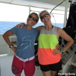 Awesome dive team aboard the Turks and Caicos Explorer II - Bungee & Mia!