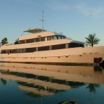The Turks and Caicos Explorer at the dock in Providenciales, Turks and Caicos Islands